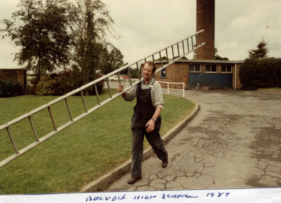 Philip Sutton at work at the High School in 1987