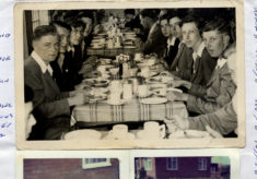 Bottesford lads at breakfast in Butlin's Holiday Camp, Filey, 1954