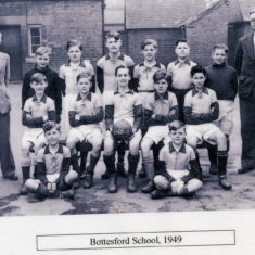 Bottesford School football team, 1949 | From the collection of Philip Sutton
