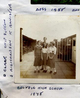 At Belvoir High School, 1978.