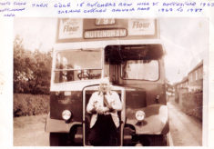 Jack Cole, Bottesford bus driver, about 1963.