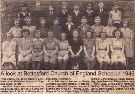 A Look at Bottesford Church of England School in 1946 | Cutting from the Grantham Journal