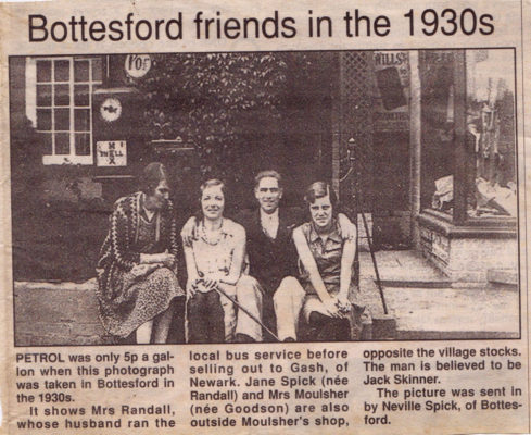 Bottesford friends in the 1930s (press cutting) | From the Grantham Journal