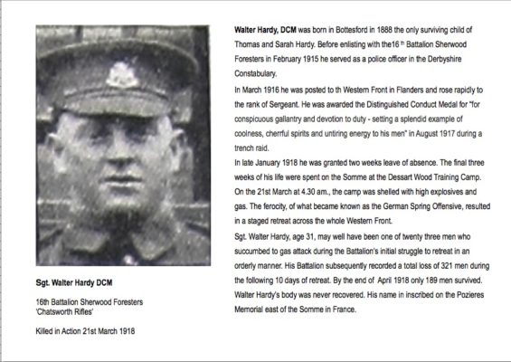 Sgt. Walter Hardy summary biography