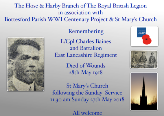Remembering L/Cpl Charles Baines
