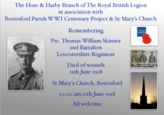 Remembering Pte. Thomas William Skinner