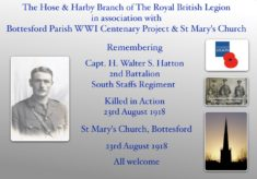 Remembering Capt. H. Walter S. Hatton, 2nd Bn., South Staffs., Regiment