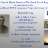 Remembering 2nd Lt. Albert Asher, 1/5th Battalion, Leicestershire Regiment