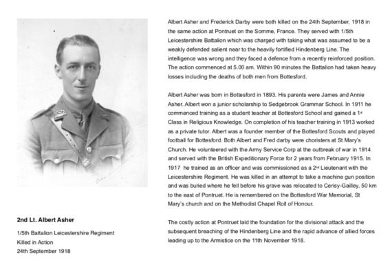 2nd Lt Albert Asher