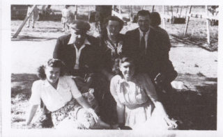 July 1949 at Nottingham - back row Arthur Marston, wife Daphne, Bob Tinkler, front row Daphne Marston and Joan Burrows (nee Patchett). | The Marston family