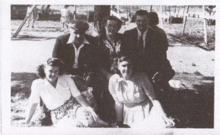 July 1949 at Nottingham - back row Arthur Marston, wife Daphne, Bob Tinkler, front row Daphne Marston and Joan Burrows (nee Patchett). | The Marston family