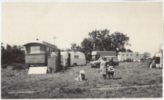 Caravans of Turville's Fair, Station Field in the 1970s - Lassie, Gladys Marston, Mrs Turville | The Marston family
