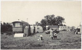 Caravans of Turville's Fair, Station Field in the 1970s - Lassie, Gladys Marston, Mrs Turville | The Marston family