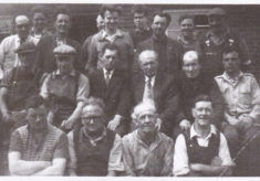Arthur Marston with his workmates, approx 1960
