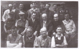 Workers at W.J. Roberts' Ltd c.1960. Arthur Marston is seen at the rear on the right. | The Marston family