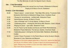 Armistice  Day Centenary - Bottesford Parish
