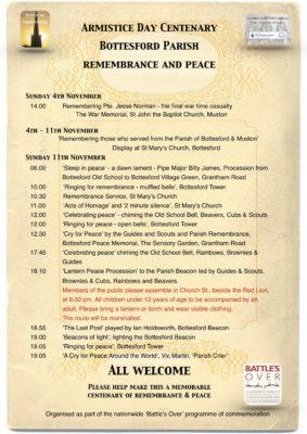 Armistice  Day Centenary - Bottesford Parish