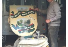 Restoring the Millennium Beacon Village Sign after 18 years of wind and rain