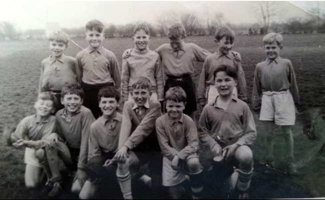 The lads of the Primary School football team in 1958. | From the collection of Sue and Ken Kirton