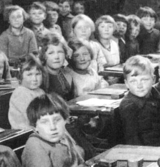 Bottesford school children in 1928, in the schoolroom which is now the Fuller Room | Bottesford History Archive