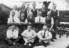 Easthorpe & District skittles team, c.1930.