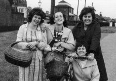 A group of friends, outside Bottesford station