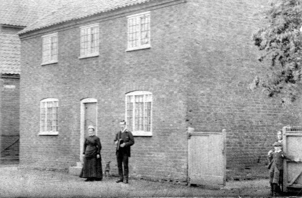 Outside the Bugg's house, Bottesford High Street, c.1900