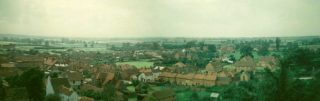 A panorama of the village centre, showing paddocks and buildings that have since been lost. | Views from Holliers taken by Police Sergeant Arthur Bradshaw, 1958, digitally restored by Richard Bradshaw