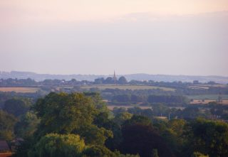 Looking from Beacon Hill: the view southwest towards Barkestone-le-Vale church spire. | Neil Fortey