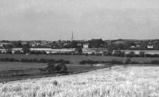 Bottesford, photographed from Toston Hill by Police Sgt Arthur Bradshaw,1958.