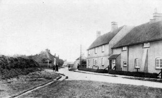 An old postcard of The Corner House, Easthorpe.