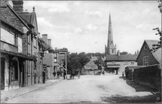 Market Street around 1900, from an old postcard. | Bottesford Local History Archive