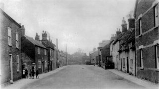 View of Queen Street, looking northwards from the High Street, in the early 1900s. | Bottesford Local History Archive