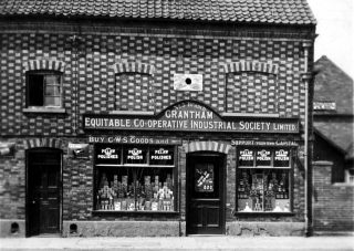 The Queen Street premises of the Grantham Equitable Co-operative Industrial Society Ltd - Branch No. 5. | Bottesford Local History Archive