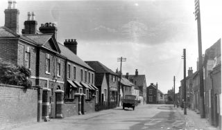 Queen Street, looking to the south, in the 1920/30s. | Bottesford Local History Archive