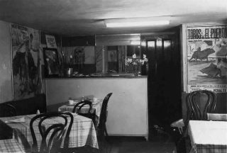 The interior of Monty's Stores, 1950s (previously Standley's cafe, now the 'Olde Rutland Cafe'). | Bottesford Local History Archive