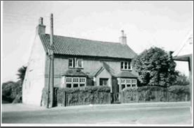 1950s photograph of 'The Rosary', with a gas light next to the telegraph pole. | Bottesford Local History Archive