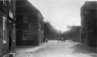 An early 1900s view of the Rutland Arms and (on the left hand side of the picture) No.4 High Street. | Bottesford Local History Archive