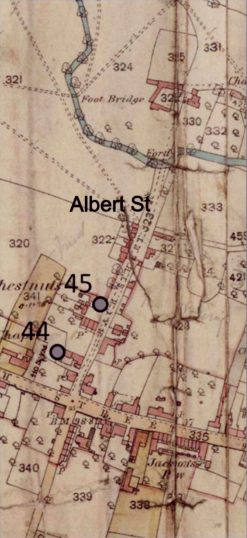 Albert Street, as shown on the Ordnance Survey village map, 1884. © Crown Copyright. | Bottesford Local History Archive