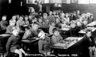 The juniors class in Bottesford School, 1928. | Bottesford Local History Archive
