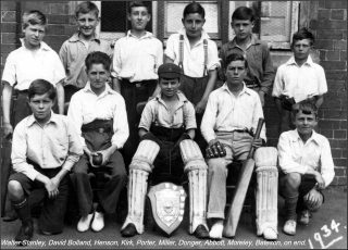 Bottesford School cricket team, 1934. | Bottesford Local History Archive