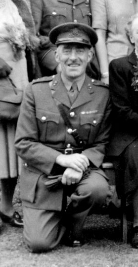 Captain Walter Cox, in uniform. | Bottesford Local History Archive