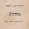 Muston School Concert Programme, 1923