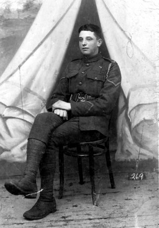 Edgar Culpin, aged 17, as a new recruit. | Bottesford Local History Archive