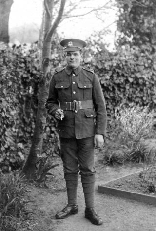 Harold Hallam, as a new recruit. | Bottesford Local History Archive