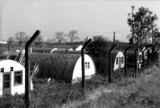 Nissen huts belonging to the RASC depot, Orston Lane, Bottesford. | Bottesford Local History Archive