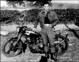 Dick Robinson, dispatch rider. | Bottesford Local History Archive