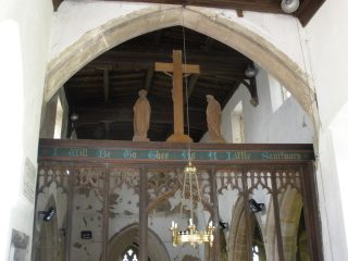 The rood screen and Cross. | Bottesford Local History Archive