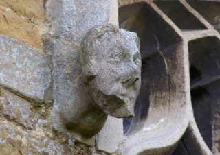 Gargoyles on Muston church. | Bottesford Local History Archive