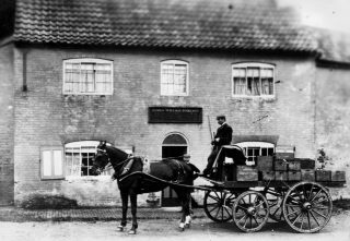A delivery at the Wheatsheaf, 1894. | Bottesford Local History Archive